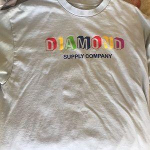 Baby blue diamond co t shirt